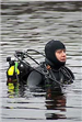 Diver swimming