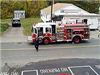 Aerial View of the fire truck