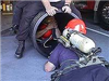 Rescue Member going into a pipe