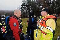 Diver talking to Firefighter