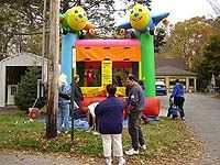 Bouncy house at family fun day