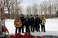 Firefighters training in the snow