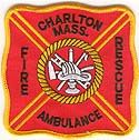 Charlton Massachusetts Fire Ambulance Rescue Badge